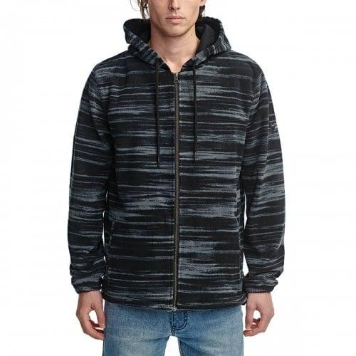Globe Sweatshirt: Overcast Zip Thru Hoodie BK