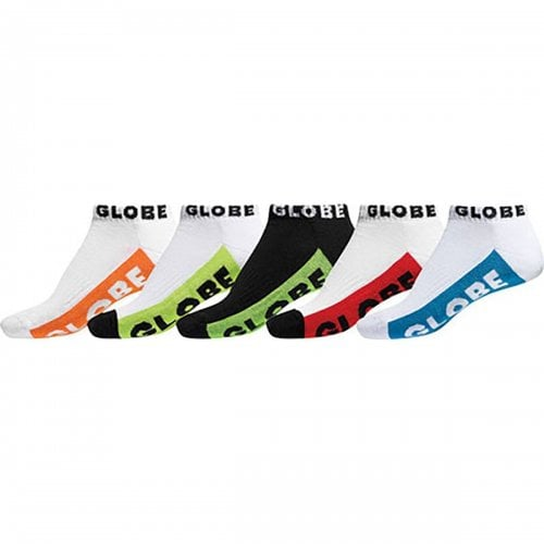 Globe Sockens: Multi Brights Ankle Sock 5pk MC
