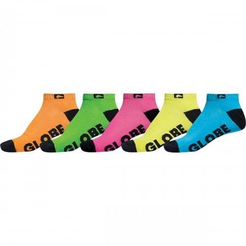 Globe Sockens: Boys Neon Ankle Sock 5pk