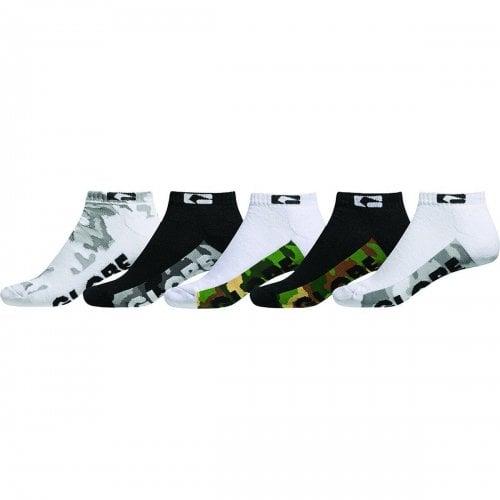 Globe Sockens: Malcom Ankle Socks 5Pk Camo