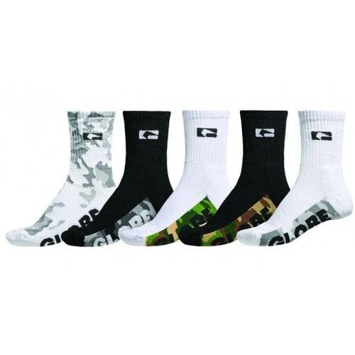 Globe Sockens: Malcom Crew Sock 5 PK Camo