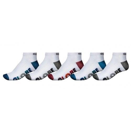Globe Sockens: Multi Stripe Ankle Sock 5 Pack WH