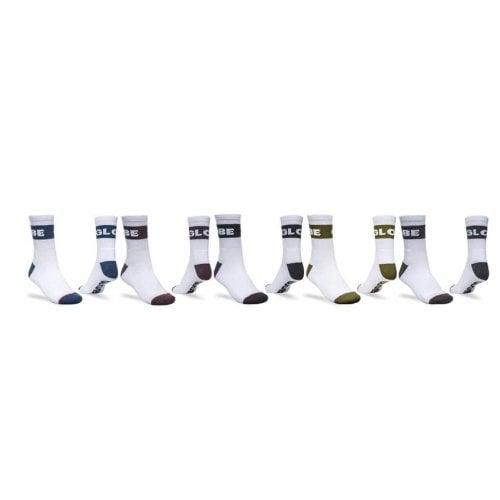Globe Sockens: Horizons Crew Sock 5PK WH