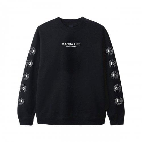 Macba Life Sweatshirt : Full Logo Crew BK