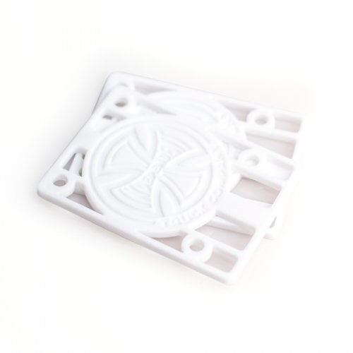"""Risers Pads Independent: Risers 1/8"""" White"""