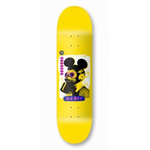 Imagine Skateboards Deck: Mickey Mask Yellow 8.0