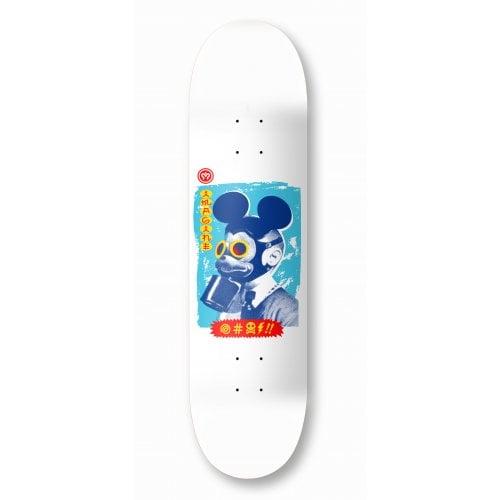 Imagine Skateboards Deck: Mickey Mask White 8.2