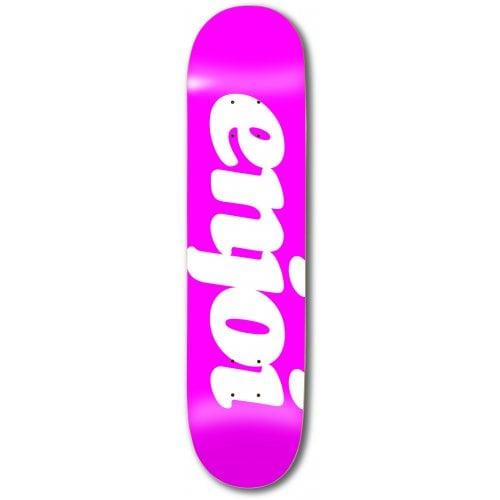 Enjoi Deck: Flocked HYB Pink 8.0x31.6
