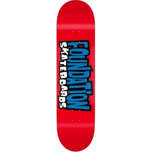 Foundation Skateboards Deck: From the 90s Red 8.0x31.84