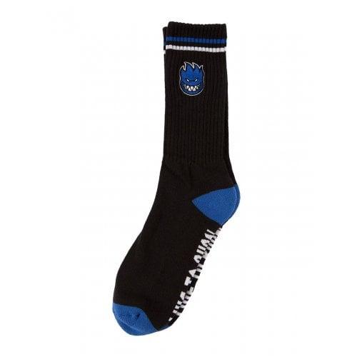 Spitfire Sockens: Bighead Fill Emb Black/Blue/White
