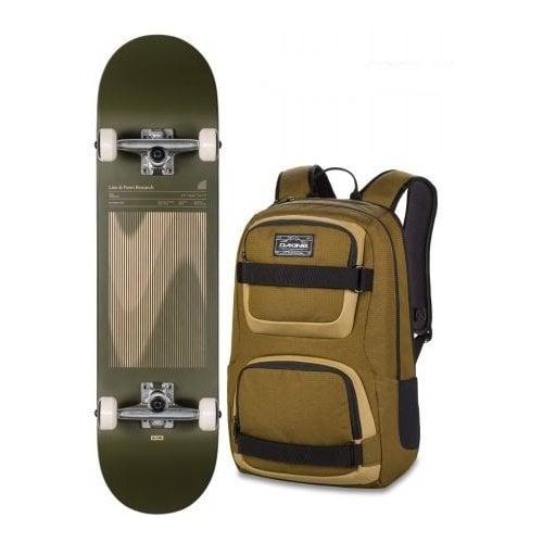 Globe Komplettboard + Dakine Backpack: G1 Lineform Boxed Olive 8.0x31.63