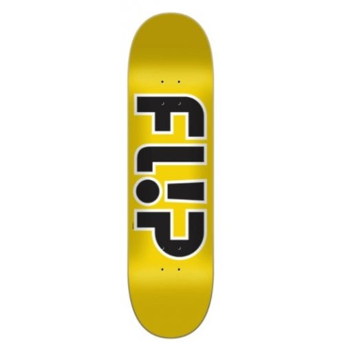 Flip Deck: Team Outlined Yellow 8.45x32.15