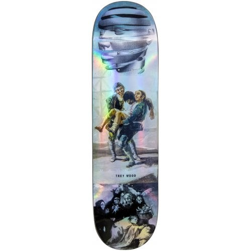 Madness Skateboarding Deck: Trey Blackout R7 Holographic 8.25x32.1