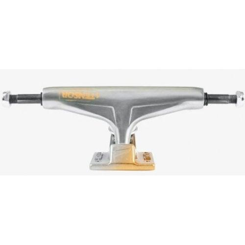 Tensor Achsen: Alum Stencil Mirror Raw/Gold Fade 5.5