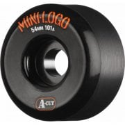 Mini-Logo Skateboards Rollen: A-Cut Black (54 mm / 101A)