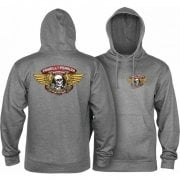 Powell Peralta Sweatshirt/Hoodie: Winged Ripper Gun Heather
