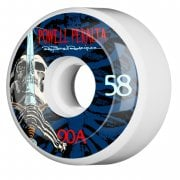 Powell Peralta Rollen: Ray Rod Skull & Sword White/Blue 90A (58mm)