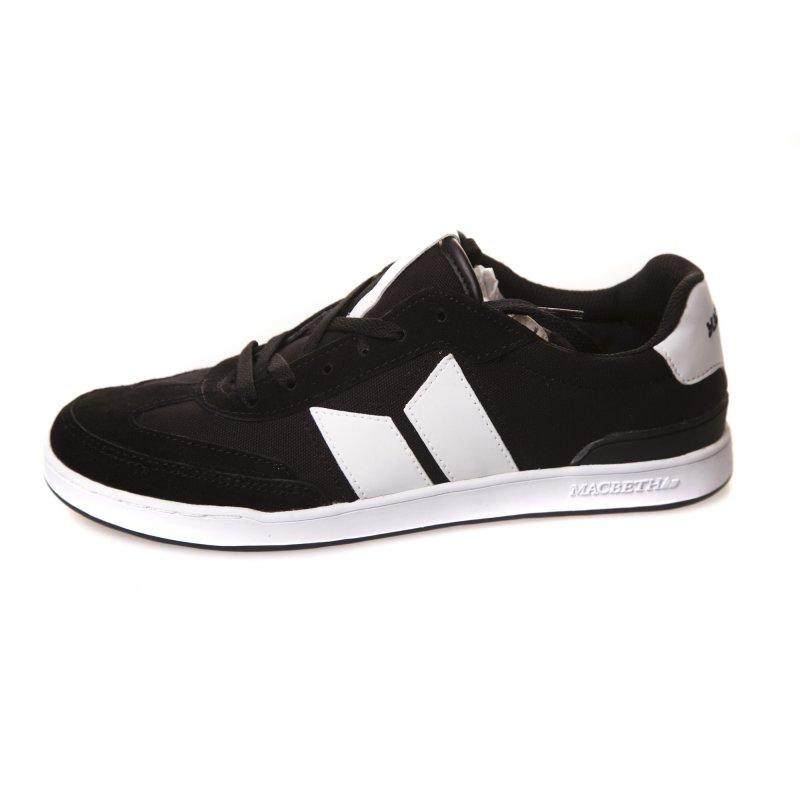 new product b76e0 4e0cb Macbeth Schuh: Madrid Black - White Suede Cavans BK | Online ...